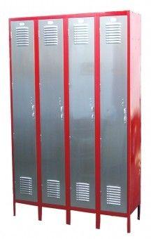 Shown red casing and steel doors. Other colors available. Repurposed Lockers, Vintage Lockers, Back To School Organization, Garage Organization, Workshop Organization, Organization Ideas, Gym Lockers, School Lockers, Steel Furniture