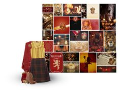 """""""Gryffindor"""" by siriuslyoddsome ❤ liked on Polyvore featuring York Wallcoverings, Børn, ADAM, Jigsaw, Ela Stone, Mojo Moxy, harrypotter, hogwarts and Gryffindor"""