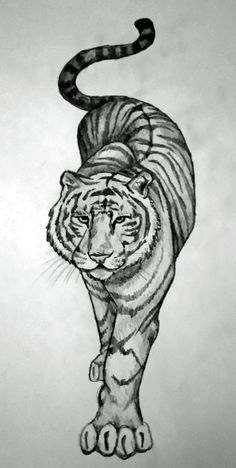 prowling tiger tattoo | prowling tiger. by BethCatz JUST THE EYES