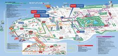 Map of New York City Streets and Attractions | ... open deck / hop-on-hop-off bus / All Loops package tour - New York map