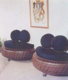 When one can make cool furniture out of these old tires then why disposing them off! Tire Furniture, Recycled Furniture, Cool Furniture, Furniture Design, Outdoor Furniture, Handmade Furniture, Tire Seats, Tire Chairs, Reuse Old Tires