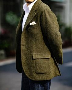 Tweed Jacket Men, Tweed Coat, Mens Fashion Suits, Mens Suits, Smart Casual, Men Casual, Tweed Run, Man Dressing Style, Man About Town