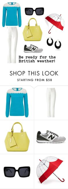 """Be ready for the British weather"" by wolfandwhistle on Polyvore featuring Whistle & Wolf, Dash, Dune, New Balance, Cynthia Rowley, Hunter and Bling Jewelry"