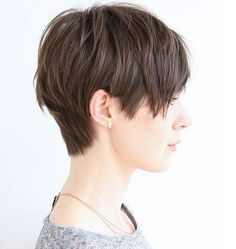 Great short cut for fine, thin hair! Short and Spunky Pixie Cut for Fine Locks