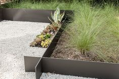 I really love how the the extruded garden bed edging extends beyond the corners, it's an interesting detail. But I'm not so sure about the garden beds and the planting scheme. Does it work? Pinned to Garden Design by Darin Bradbury of BASK Design.