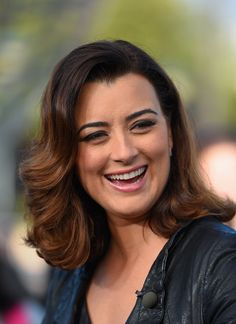 """ Cote de Pablo visits 'Extra' at Universal Studios Hollywood on January 12, 2015 """