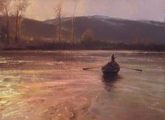 Brent Cotton - EVENING IN MONTANA ~ 12x16 Oil on linen ~ palette knife c. 2011