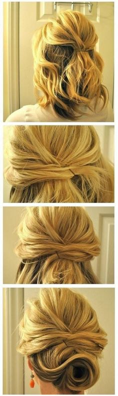 Beautiful and easy collected hairstyles step by step - Hermoso peinado sencillo…