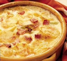 Cheese and Potatoes.Cheese and Potatoes. Au gratin potatoes pair perfectly with steaks, baked fish and a juicy roast chicke. Potato Leek Gratin, Potatoes Au Gratin, Potato Recipes, Veggie Recipes, Vegetarian Recipes, Bbc Good Food Recipes, Cooking Recipes, Bbc Recipes, Recipies