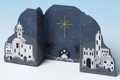 Featuring the town of Bethlehem with the star in the sky, this 3D effect cross stitch card kit is perfect for someone who holds the true meaning of Ch...
