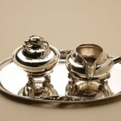 Gallery 925 - Georg Jensen Blossom Tray, No. 2P. Handmade Sterling Silver.