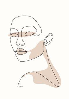 Art Abstrait Ligne, Art Minimaliste, Minimal Art, Art Visage, Abstract Face Art, Abstract Lines, Outline Art, Aesthetic Art, Female Art