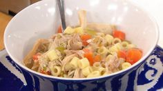 Lemon Chicken Noodle Soup - this soup costs just $5 to make and feeds a hungry family of four! #SlowCookerWeek