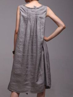 Linen with pintucks...