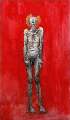 """Marcel Nino Pajot """"Don Quichotte - l'Hypnose (étude)"""" Dessin """"coloré"""" sur papier de grand format (195 X 115 cm) Marcel, Isamu Noguchi, Drawing Skills, Les Oeuvres, Illustrators, Lion Sculpture, Creatures, Grand Format, Statue"""
