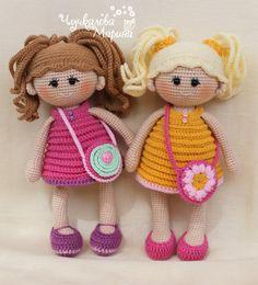 "Crochet doll pattern ""Pumposhka"" PDF"