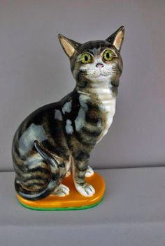 Minton majolica cat figure | Glazed and Confused