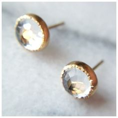 Stunning studs make a statement.