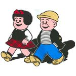 Nancy and Sluggo  daddy would read the funnies to me all time;