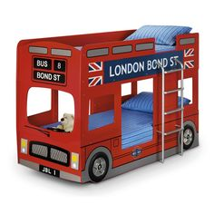 LONDON BUS KIDS BUNK BED