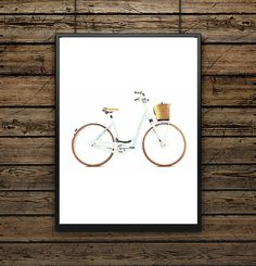 Affiche Illustration Vélo vintage