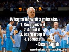 Dean Smith leads this page of 101 Awesome Basketball Quotes. He will be missed, RIP