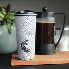 "Native Northwest on Instagram: ""Whether your commute is to the other side of the city or the other side of the room, Wood Grain Travel Mugs will keep you coffee hot for as…"""