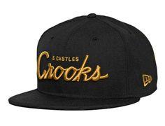 CROOKS   CASTLES x NEW ERA「Team Crooks」59Fifty Fitted Baseball Cap Herrar  Höst 03de69b82258