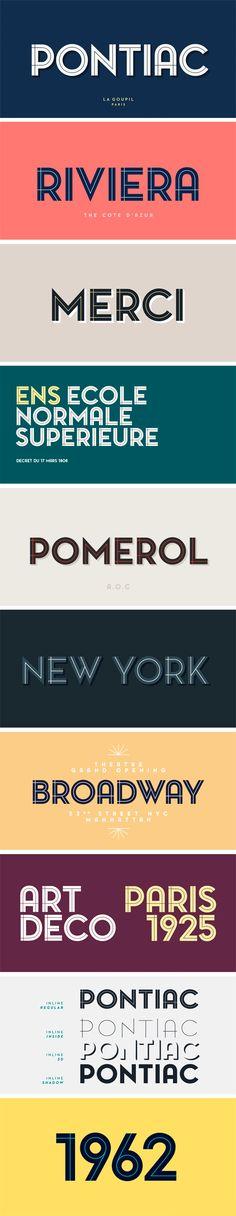 Pontiac Inline Font Family