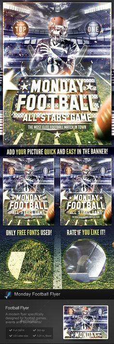 Collage Football  Collage Football Flyer Template And Collage