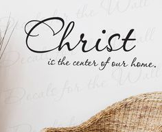 Christ Center Our Home Inspirational Home Religious God Bible Vinyl Large Wall Decal Lettering Art Decor Quote Sticker Saying Decoration R20. $27.97, via Etsy.