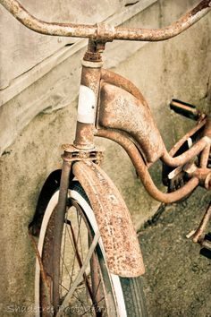 Vintage Schwinn Rusty Bike by ShadetreePhotography