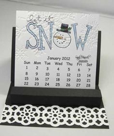 Idea for embossing calendar page Cute Calendar, Calendar Ideas, Calendar Pages, Calendar 2020, Desk Calendars, Paper Flower Patterns, Paper Magic, Perpetual Calendar, Craft Show Ideas