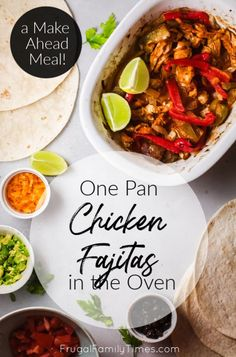 This is our kids' favorite dinner! Here's how to make chicken fajitas in oven. These fajitas are loaded with peppers, onions and, of course, chicken. Our recipe is healthy and easy - your family wants you to try this sheet pan fajitas recipe! #sheetpan #weeknightmeal #dinner #easyrecipe #mexican
