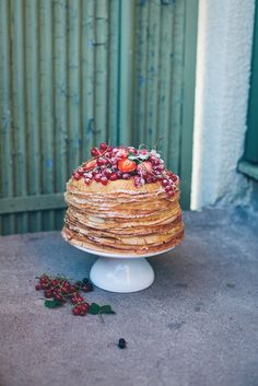Idea for Valentine's Day breakfast - Crepe Cake! Pancake Cake, Food Wishes, Crepe Cake, English Food, Food Is Fuel, Pretty Cakes, Stick Of Butter, Celebration Cakes, Let Them Eat Cake