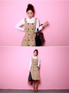 Sleeveless Trench Dress - I know you wanna kiss me. Thank you for visiting CHUU.