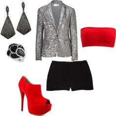 """""""Silver sequins"""" by rprov on Polyvore"""
