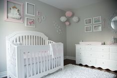 Pink and Gray Baby Girl Nursery Tour