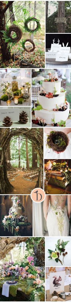 Enchanted forest decorations for wedding ideas 88