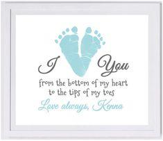 Love From the Bottom of my Heart Footprint Wall Art 1100_pap