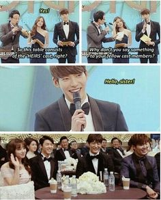 and then woobin hands the best couple award to shinhye and minho, and soulessly congratulates them.