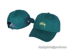 STUSSY Curved Baseball Caps-Green