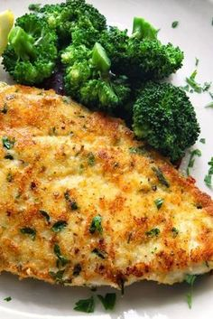 Baked Parmesan Garlic Chicken - This easy chicken recipe only uses four ingredients but is packed with taste. Boneless chicken breasts are coated in a flavorful blend of cheese and spices for a wonderful main dish that goes with anything from spaghetti to baked beans.