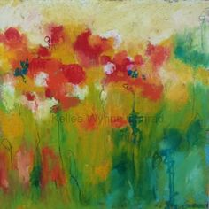 "Artist.Writer.Dreamer: Flowers in Winter ""Garden Hopeful II"" Kellee Wynne Conrad #floral #botanical #art"