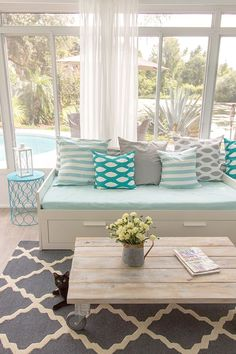 25 Coastal And Beach Inspired Sunroom Design Ideas   DigsDigsFrom Design Sponge  Reorient this  and it s basically what we want  . Sunroom Decor Ideas. Home Design Ideas