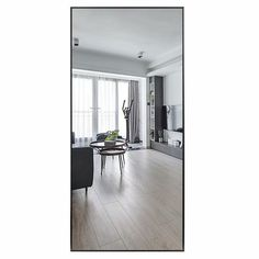 Modern Aluminum Alloy Thin Framed Full Length Floor Mirror - On Sale - Overstock - 30393628 - 71x31x1 - Gold Full Length Floor Mirror, Full Mirror, Mirror Shapes, Large Furniture, Minimalist Decor, Home Decor Outlet, Aluminium Alloy, Modern Contemporary, Flooring