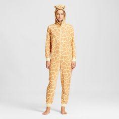 Women's Giraffe Union Suit Pajamas - Chamois -