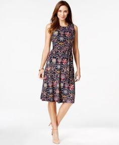 Charter Club Printed A-Line Midi Dress - finally a longer dress - got it - love it!
