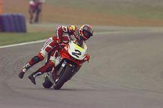 The Randy Mamola rodeo. Racing Motorcycles, Racing Bike, Gp Moto, Motogp Race, Side Car, Real Racing, Super Bikes, Vintage Bikes, Cool Bikes