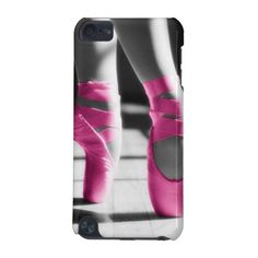 Bright Pink Ballet Shoes iPod Touch 5G Cover